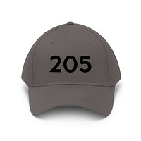 Alabama 205 Area Code Embroidered Twill Hat BLACK