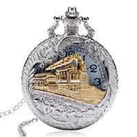 Engineer Two Tone Train Pocket Watch For Man or Woman