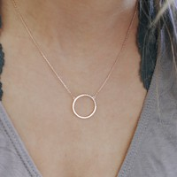 Talking Circles Necklace - Rose Gold