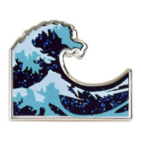 Wave Emoji Pin