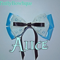 Alice in Wonderland Disney Inspired hair bow