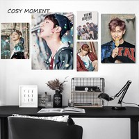 COSY MOMENT Canvas Painting Korean Bangtan Boys BTS Poster Wall Art Poster Print Decorative Wall Pictures For Living Room ZS039