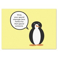 A Birthday Suited Mr. Penguin Tissue Paper