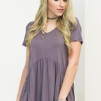 Simple Babydoll Top | Purple