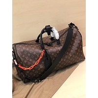 LV Louis Vuitton MONOGRAM CANVAS Virgil Abloh KEEPALL 50 HANDBAG SHOULDER BAG TRAVEL BAG