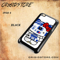 R2D2 Star Wars Hello Kitty Black White Snap On 3D For Ipod Touch 4 Case