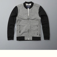 Full-Zip Baseball Jacket