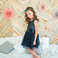 Navy Blue Sparkle Dress