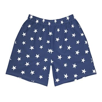 Colonial Stars Men's Athletic Long Shorts