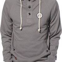 Volcom Programmer Charcoal Henley Pullover Hoodie