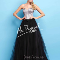 Sweetheart Corset Bodice Formal Prom Gown By Mac Duggal Flash 65141L