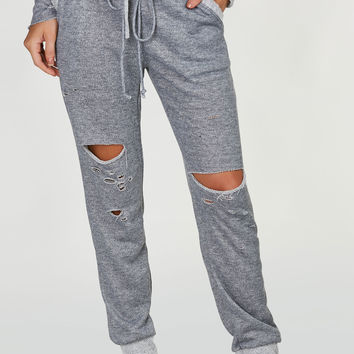 Rough Cut Distressed Joggers