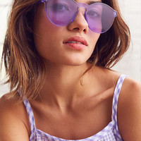 Translucent Monocut Round Sunglasses   Urban Outfitters