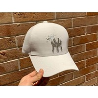 MLB 2019 new diamond alphabet for men and women fashion casual baseball cap White