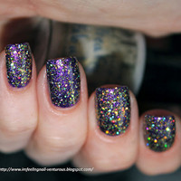 Freaky & Fabulous Gold Holo Glitter Nail Polish from Life's a Beach Collection