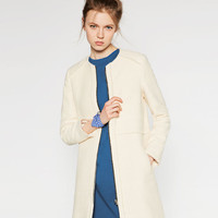 FABRIC COAT - View All-OUTERWEAR-WOMAN | ZARA United States