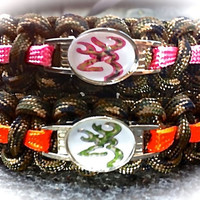 BROWNING CAMO Survival Band with Orange or Light Pink Thinlinewww