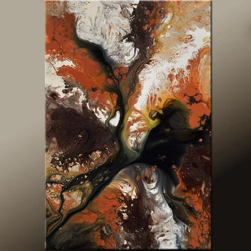 Abstract Art Print Contemporary Canvas Wrapped Print by Destiny Womack , Enchanted Earth - dWo