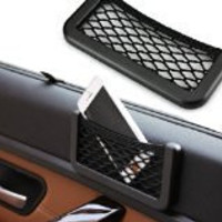 Hanging style Multifunctional compartment mesh bag Car Storage Car Accessories/small objects/gum/cosmetic money/glasses/phone