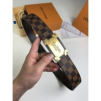 lv louis vuitton womens mens fashion smooth buckle belt leather belt monogram leather belt 31