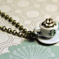 starbucks coffee necklace by Jilliciouscharms on Etsy
