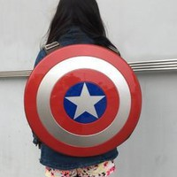 best cosplay Marvels The Avengers captain America  hard shield Backpack Bag student bag Children's gift Agents of S.H.I.E.L.D.