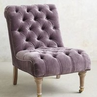 Velvet Orianna Slipper Chair by Anthropologie