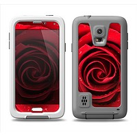 The Layered Red Rose Samsung Galaxy S5 LifeProof Fre Case Skin Set