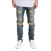 Naimath Ripped Distressed Denim Jeans Blue