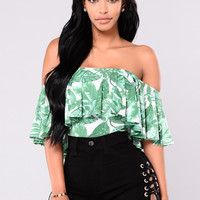 Hawaii Printed Bodysuit - Green