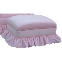 Angel Song 221020153 Classic Velvet Pink Adult Club Stationary Ottoman