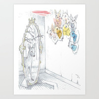 Dearer in the Mirror - Fine Art Giclee Print of a Collaborative Drawing