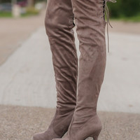 Walking Tall Thigh High Suede Boots