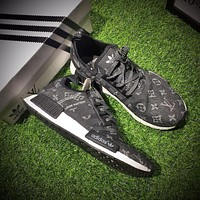 Louis Vuitton LV x Adidas Consortium NMD R1 Black Sport Running Shoes Classic Casual Shoes Sneakers