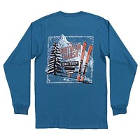 Ski Trip Long Sleeve Tee Shirt in Slate by Southern Marsh