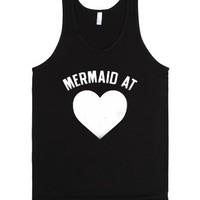 Mermaid At Heart (DARK TANK)-Unisex Black Tank