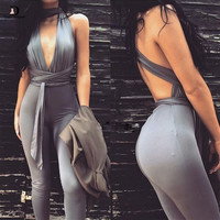 Royalty Sleeveless Bodycon Multiway One Piece Jumpsuit
