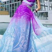 Beautiful chiffon fabric pleat and beaded handworked dress  from Caminati-Collection