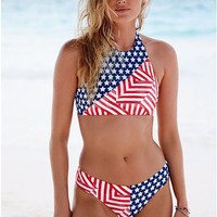 Beach Swimsuit Summer New Arrival Hot Swimwear Print Sexy Ladies Swimming Bikini [6295397124]