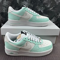 Morechoice Tuhz Nike Air Force 1 Gs Island Green Low Sneakers Casual Skaet Shoes 596728-301