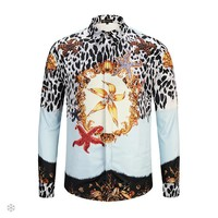 Versace autumn and winter new fashion casual men's high-end long-sleeved shirt