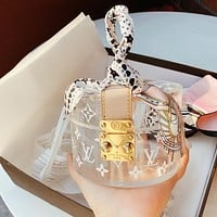 Hipgirls Louis Vuitton LV Hot Women's Printed Letters Transparent Round Box