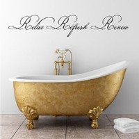 Relax Refresh Renew (M) Wall Saying Vinyl Lettering Home Decor Decal Stickers Quotes:Amazon:Home & Kitchen