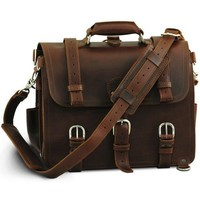 Saddleback Leather Company Medium, Chestnut Classic Briefcase, 100% Full Grain Leather with 100 Year Warranty