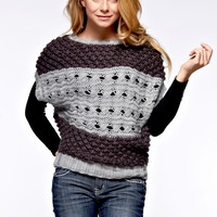Open Knit Sweater - Charcoal