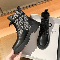 DIOR new Martin boots thin section all-match boots children's short boots spring and autumn single Shoes