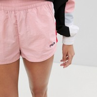 Fila Retro Runner Shorts Co-Ord In Colourblock at asos.com