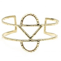 Odette New York - Arc Cage Cuff: Recycled Brass
