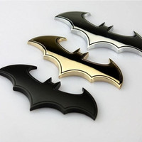 Cool 3D Metal bat auto logo car sticker metal batman badge emblem tail decal DIY = 1927905284