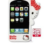 Sanrio Hello Kitty Hide and Seek 3D Cover for iPhone 4S/4 (White)
